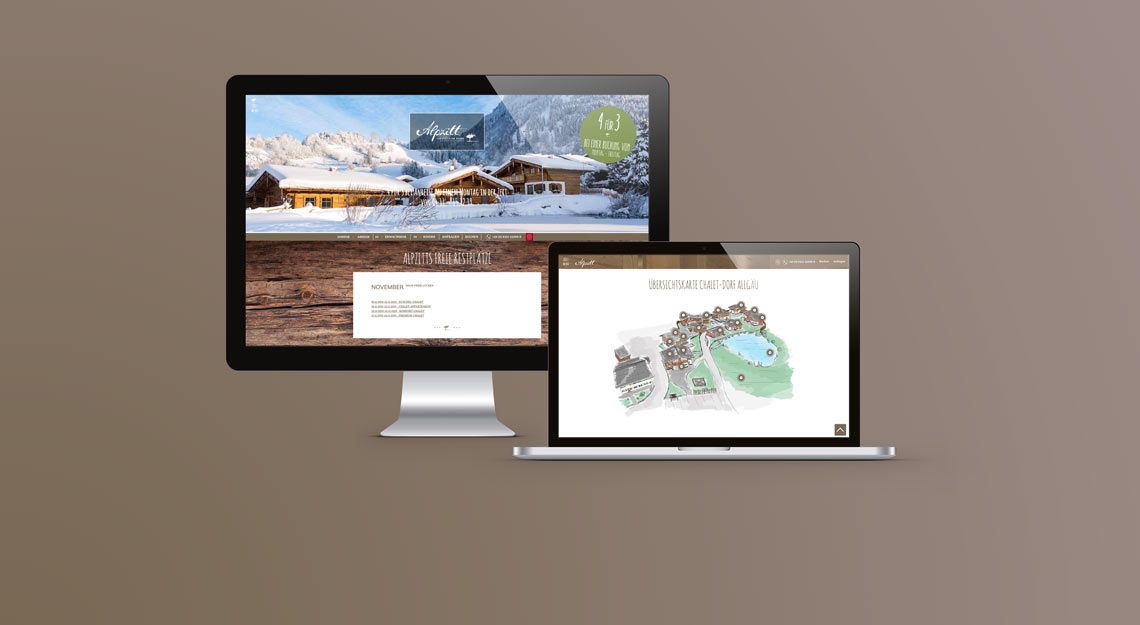 Referenz Website Alpzitt Chalets